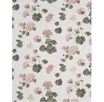 Löpare vit rosa Pelargoner shabby chic lantlig stil