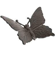 Fjäril gjutjärn trädgård pynt shabby chic lantlig stil