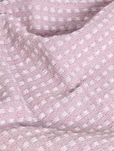 Pläd rosa bomull bomullspläd shabby chic lantlig stil