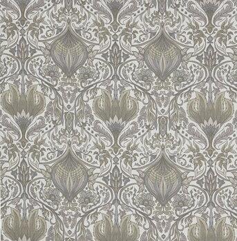 Gardinlängder ljusgrön Morris 2 st Art deco Jugend Art Noveau lantlig stil