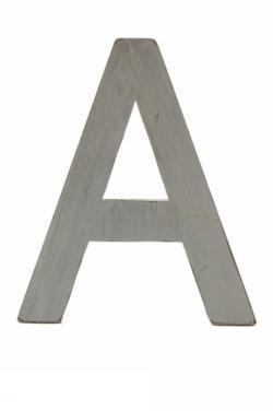 Vita stora shabby träbokstäver A-Ö