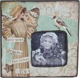 Ram vintage  shabby chic Give your dreams the wings to fly