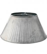 Stor lampskärm i zink