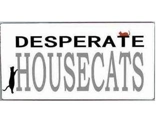Desperate House Cats kattskylt i plåt