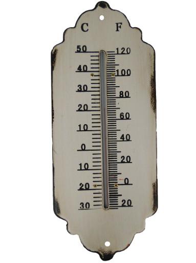 Termometer antik-vitt shabby chic lantlig stil