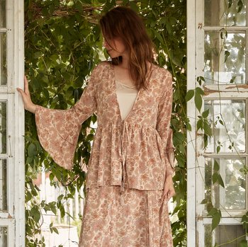 Cardigan Bohemian Rose JDL Clothing Romantisk vintage bohemian shabby chic