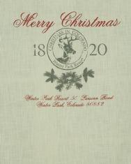 Merry Christmas hissgardin linnefärg
