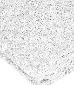 Stor duk vit spets rosor i shabby chic lantlig stil