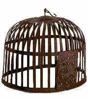 Birdcage nade to look old shabby chic