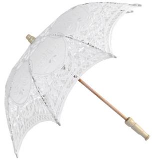Paraply vit spets barn