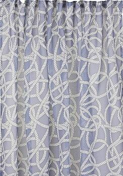 Gardinlängder blå voile New England marin shabby chic lantlig stil