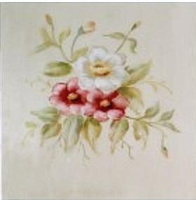 Handmålad tavla rosor nr 3 shabby chic lantlig stil