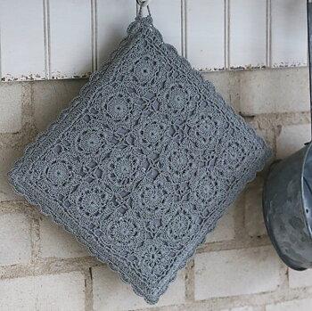 Grytlapp handvirkad grå chic antique shabby chic lantlig stil