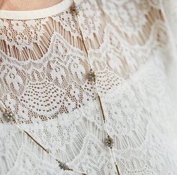 Klänning vit spets JDL Clothing Romantisk vintage bohemian shabby chic