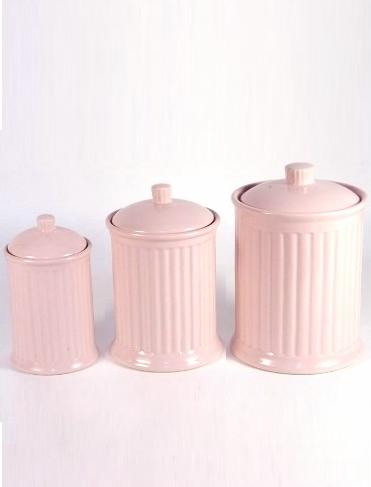 Porslinsburk rosa Mynte 3 storlekar