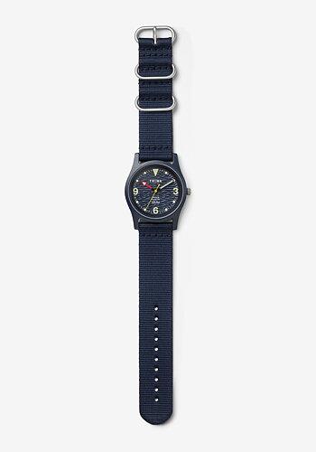 Klocka, Ocean Plastic, Blå