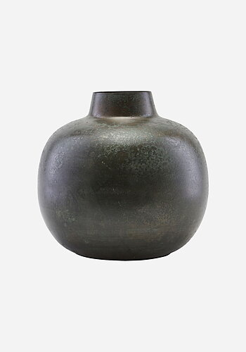 Vase, Lama, green metal