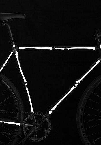 Reflexstickers till cykel, vita ben