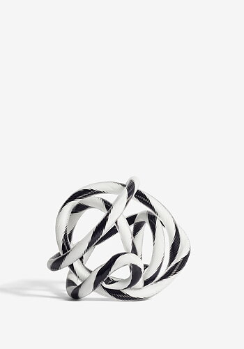 Glass ornament, Knot, black/white