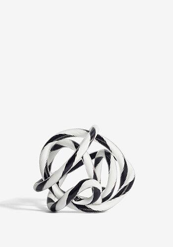 Glasknut, Knot, räfflad svart/vit