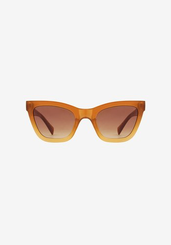 Sunglasses, Big Kanye Light Brown Transparent