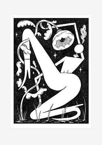 Poster, Saga Bergebo, Floral Night
