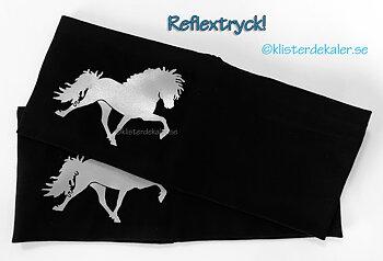 headband reflective Icelandic horse
