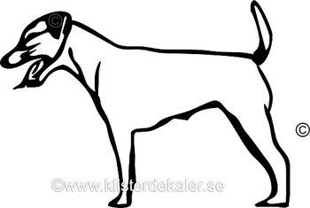 Bildekal Jack Russell Terrier profil 6