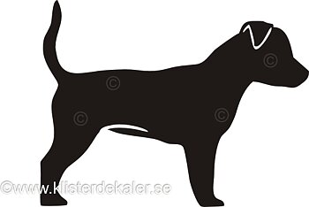 Bildekal Jack Russell Terrier profil 7
