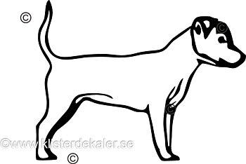 Bildekal Jack Russell Terrier profil 8