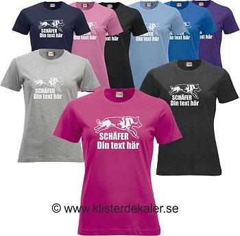 T-shirt. Schäfer med egen text
