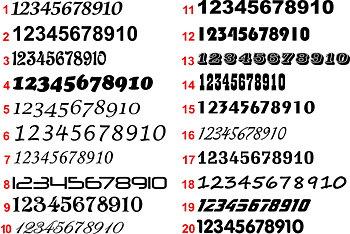 Siffror textdekor (pris per siffra)