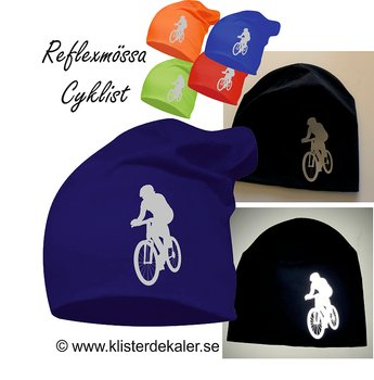 Hat Cyclist in reflextive print