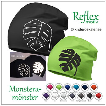 Hat Monstera pattern i reflective