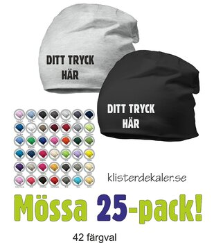 Hat with print - 25 Pack