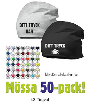 Hat with print - 50 Pack