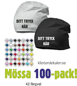 Hat with print - 100 Pack
