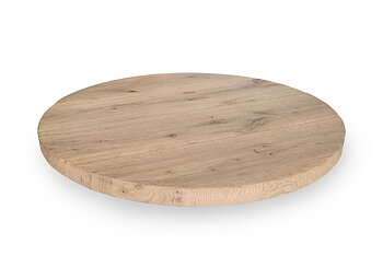 Round table top - Solid oak - RUSTIC  40 mm