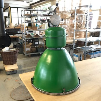 Stor Original Industrilampa - Glasplatta  CUSTOM