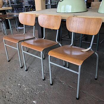 3 x Svenskt '60 tals skolstol