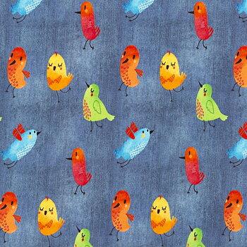 Fåglar på jeanslook