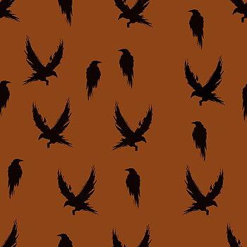 Kråkor bränd orange