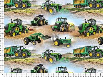 Små gröna traktorer