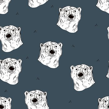 Isbjörnar på blå botten