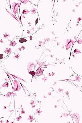 Botanical Misty Rose Silk Satin and Crepe De Chine