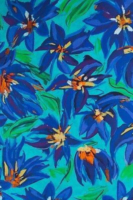 Anne Joëlle Iris Blue Sik Crepe De Chine