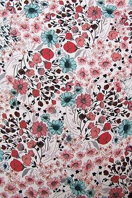 Meadow Sweet Cherry Blossom Silk Satin