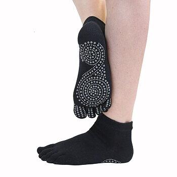ToeToe Yoga & Pilates antislip enkelsokken - Zwart