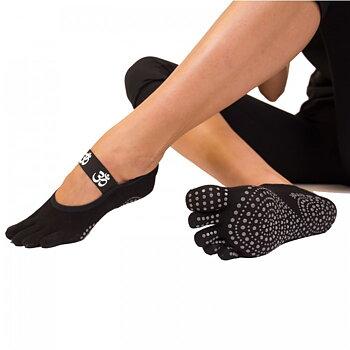ToeToe yoga sokken antislip  - kort, zwart