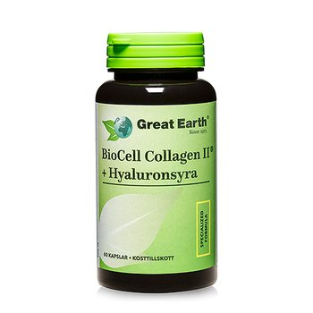 Great Earth Biocell Collagen + Hyaluronsyra, 60 kapslar